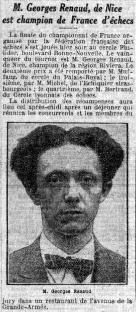 Georges Renaud, 1er Champion de France